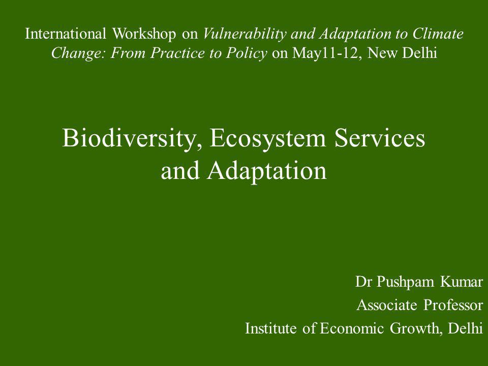Biodiversity, Ecosystem Services and Adaptation