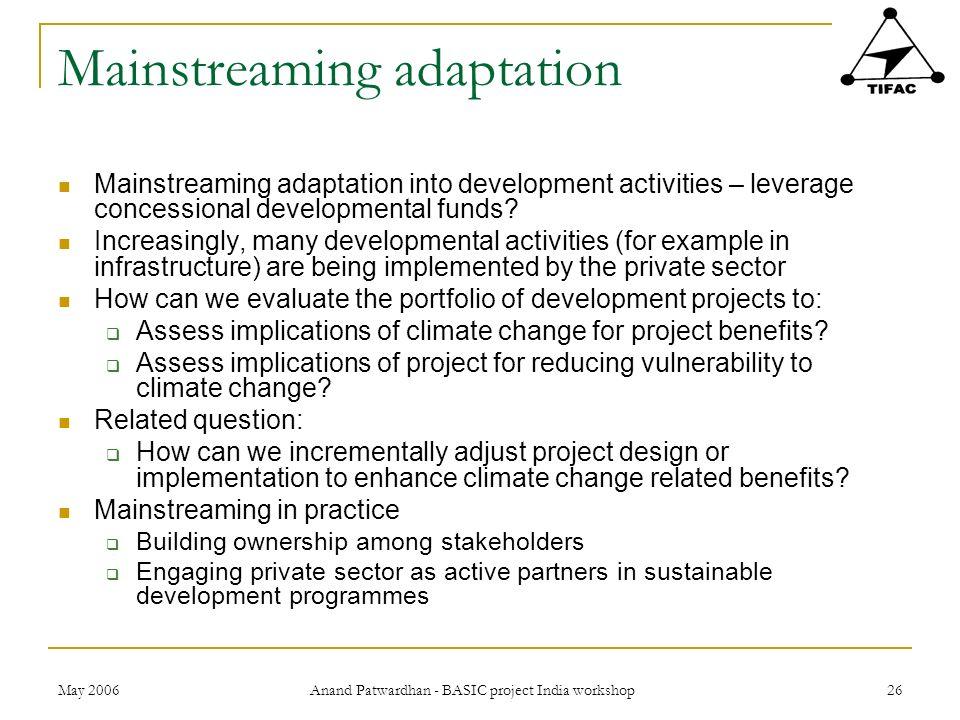 Mainstreaming adaptation
