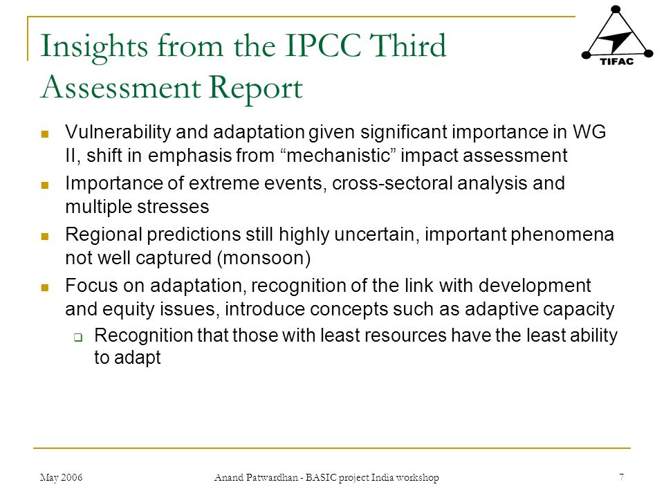 Insights from the IPCC Third Assessment Report