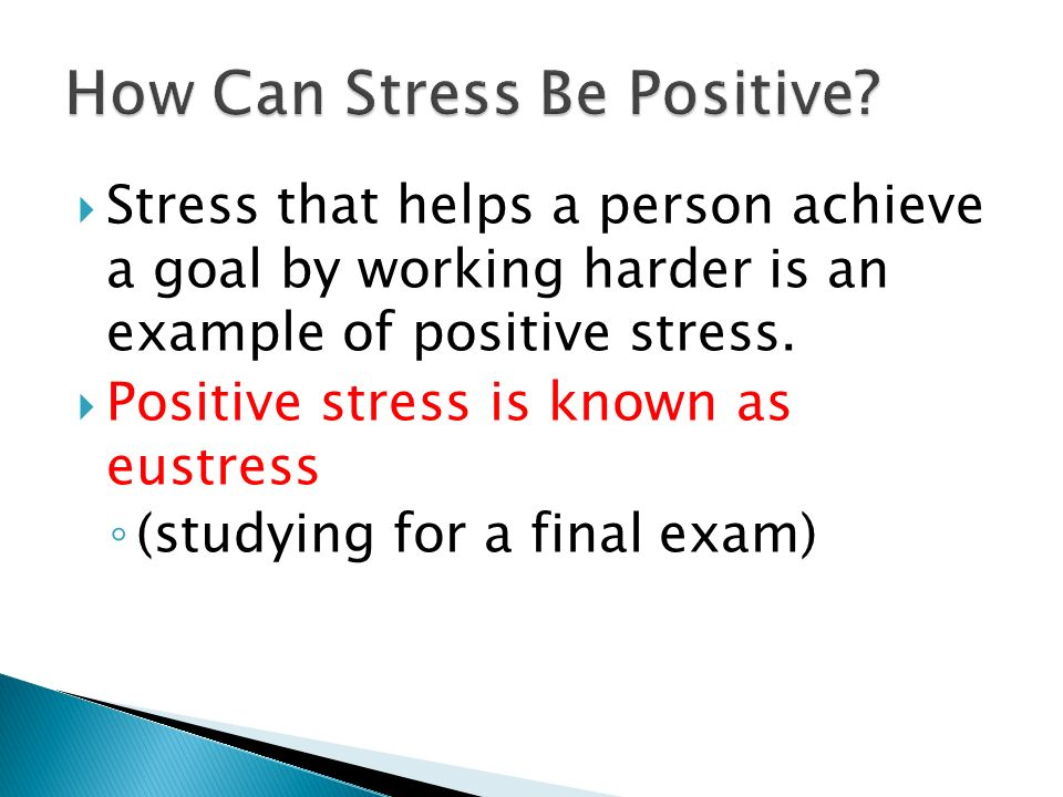 How Can Stress Be Positive