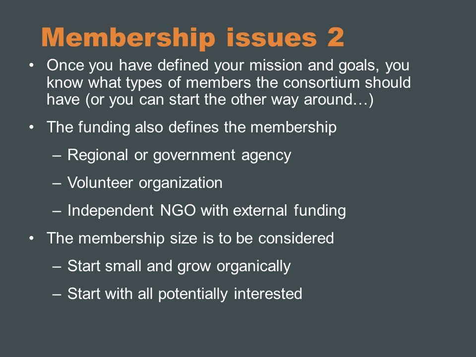 Membership issues 2