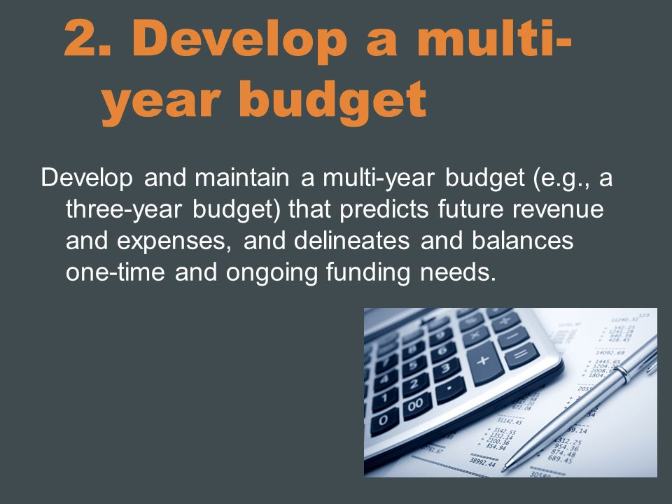 2. Develop a multi-year budget