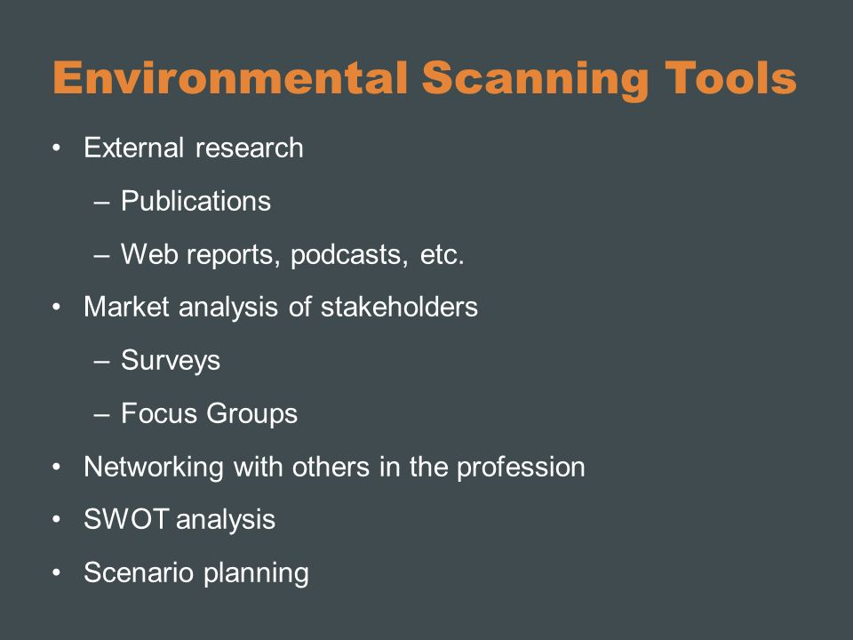 Environmental Scanning Tools
