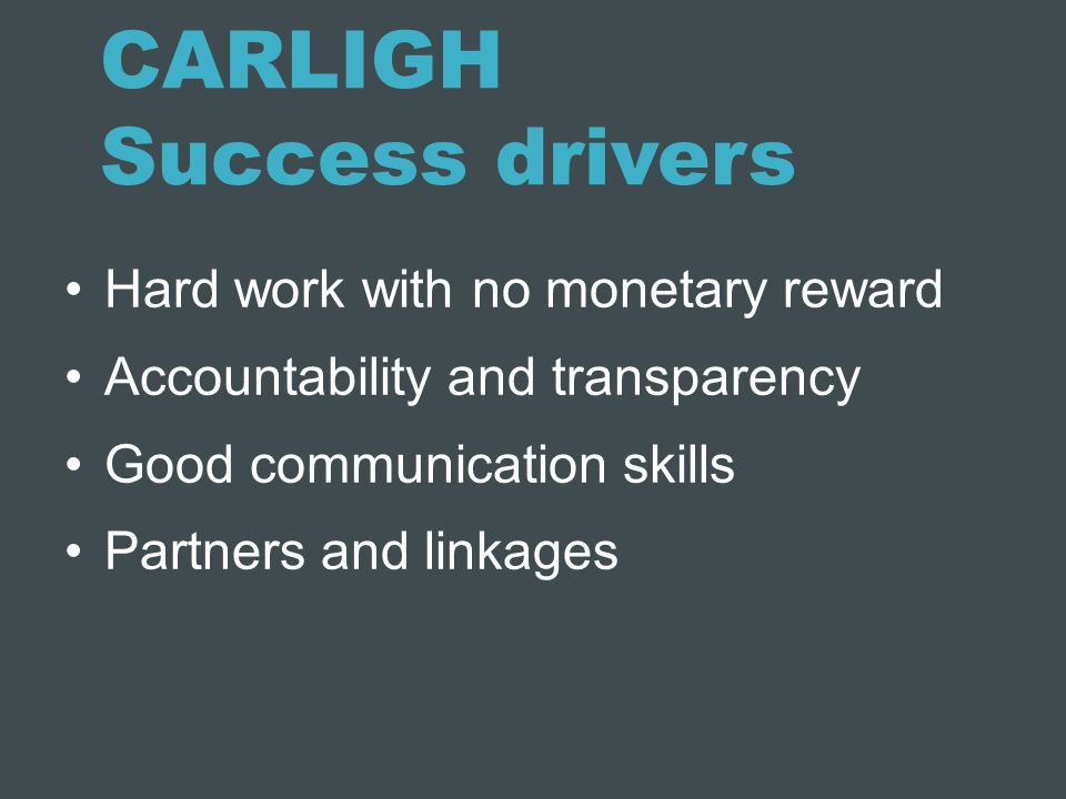 CARLIGH Success drivers