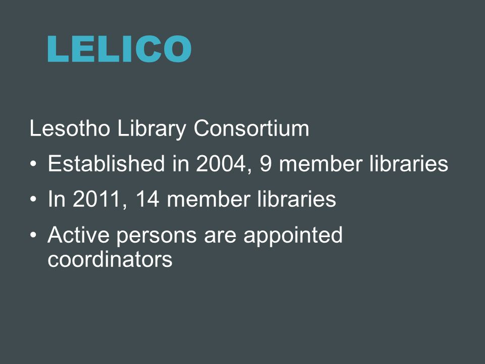 LELICO Lesotho Library Consortium