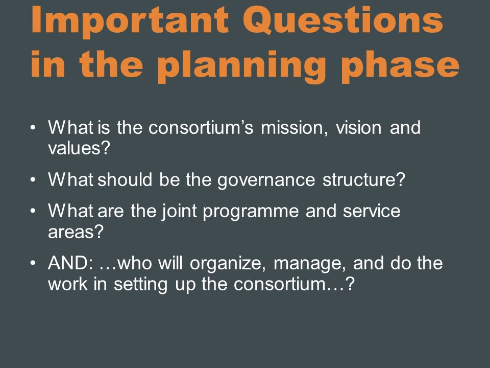 Important Questions in the planning phase