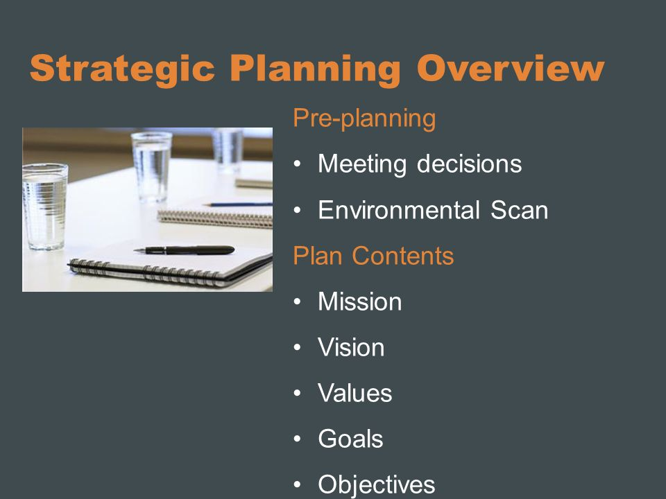 Strategic Planning Overview