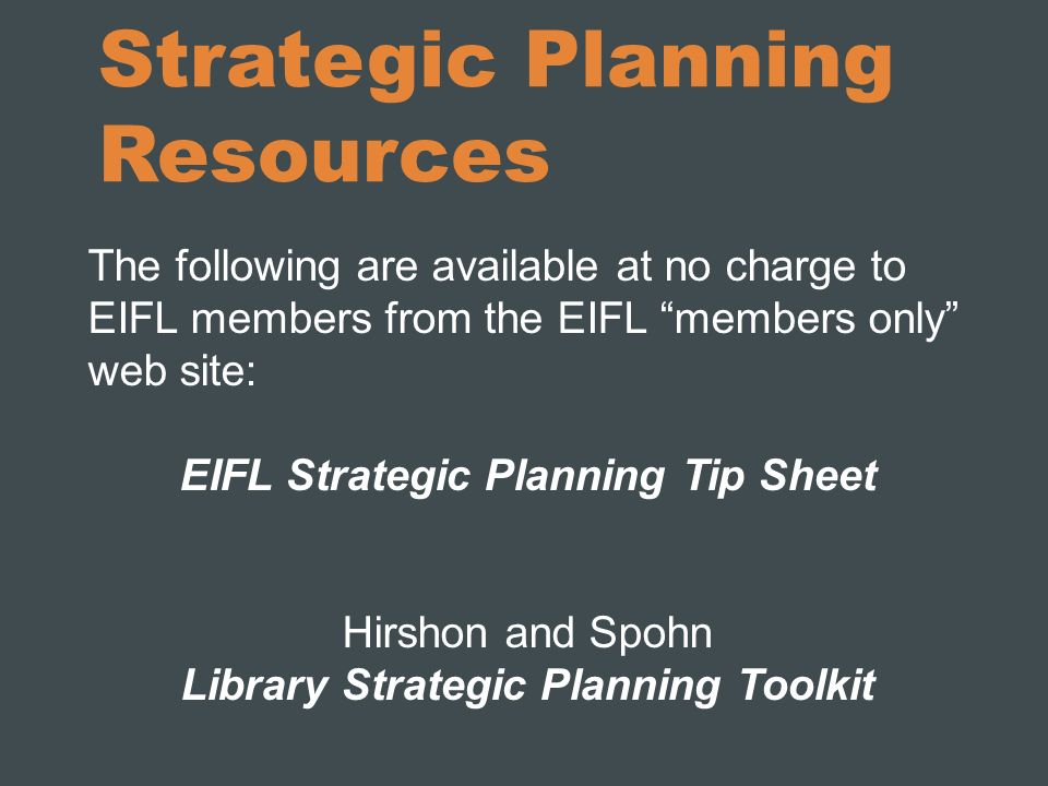 Strategic Planning Resources