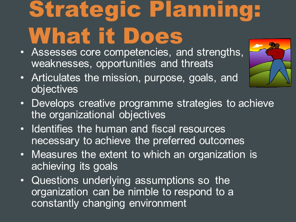 Strategic Planning: What it Does