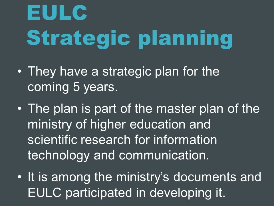 EULC Strategic planning