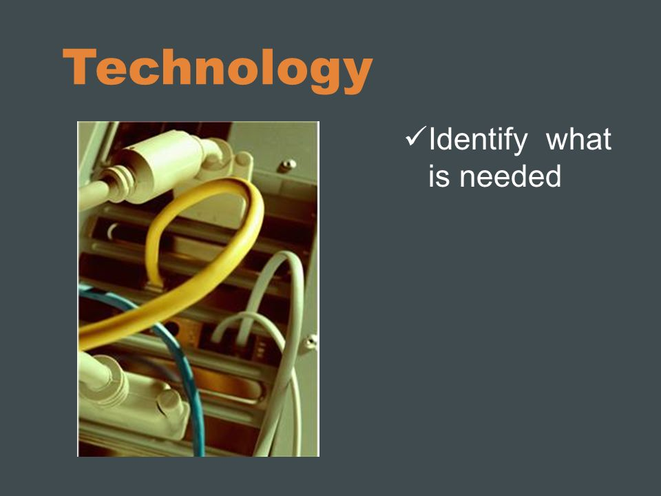 Technology Identify what is needed