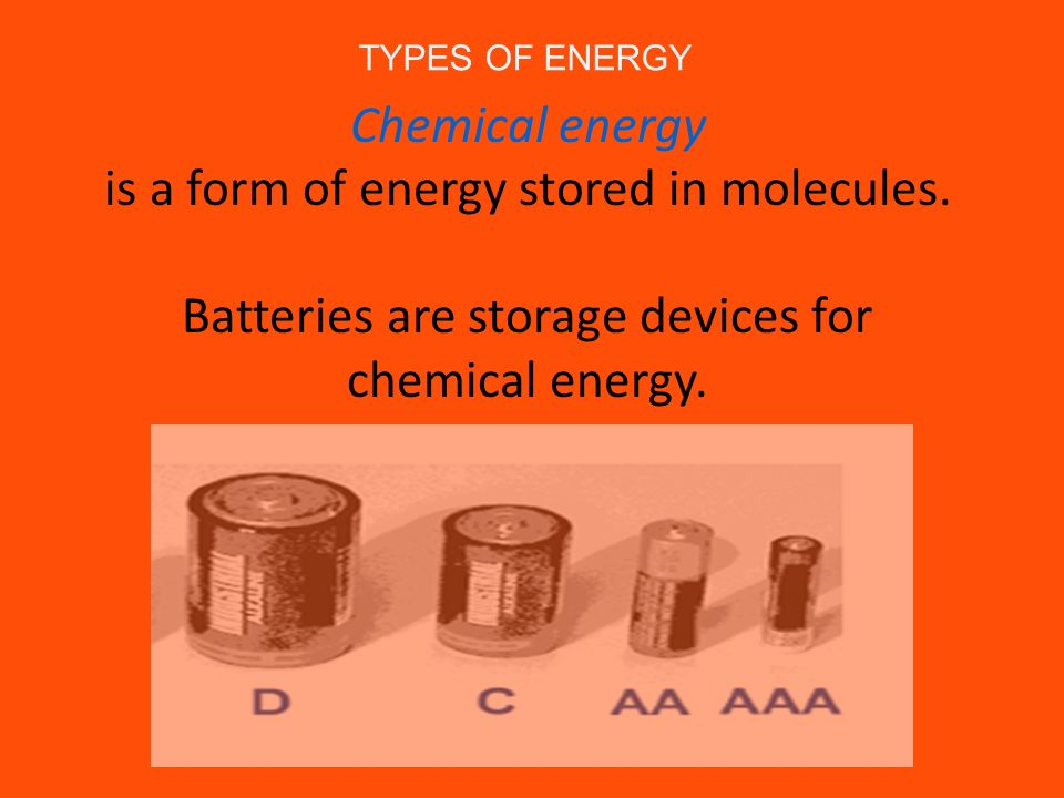 is a form of energy stored in molecules.