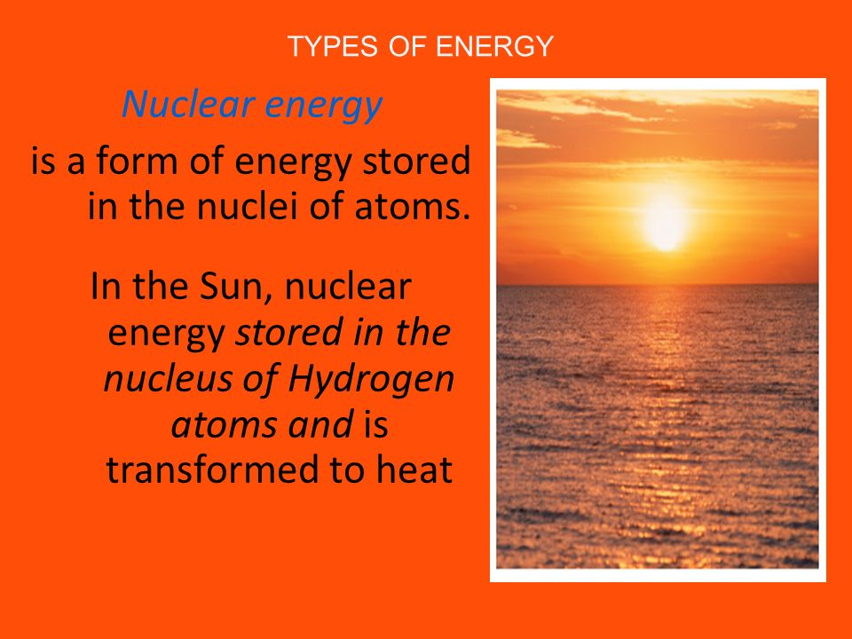is a form of energy stored in the nuclei of atoms.
