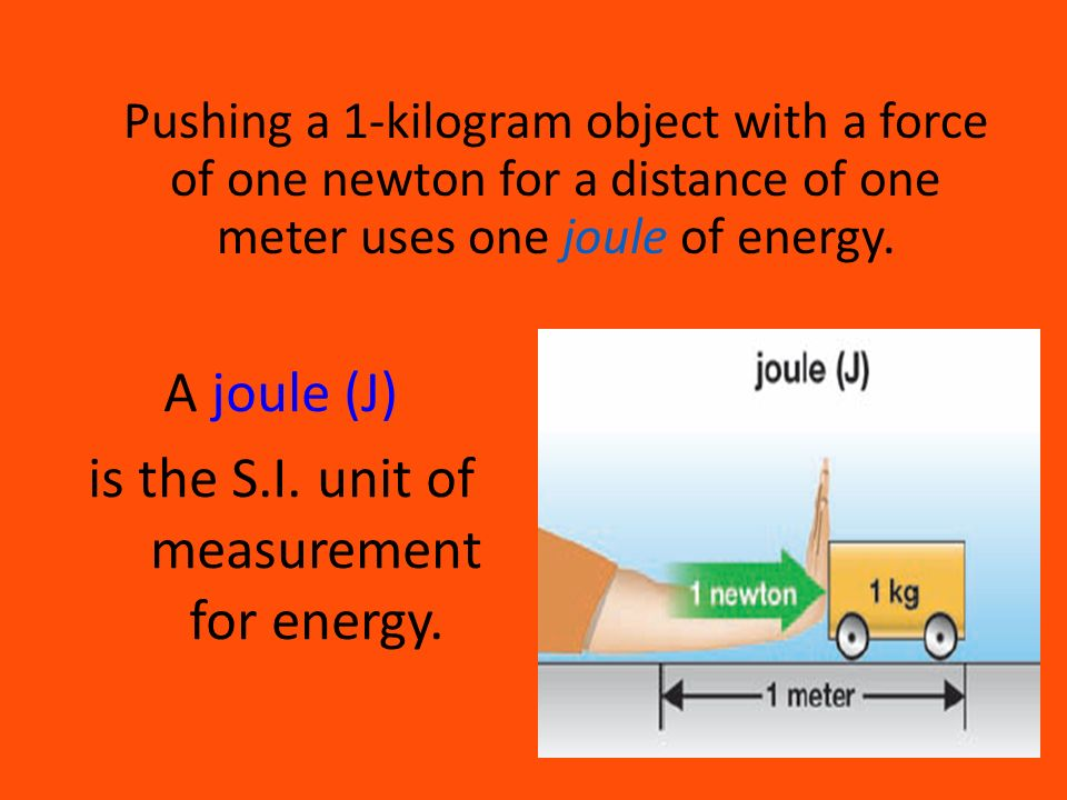 is the S.I. unit of measurement for energy.