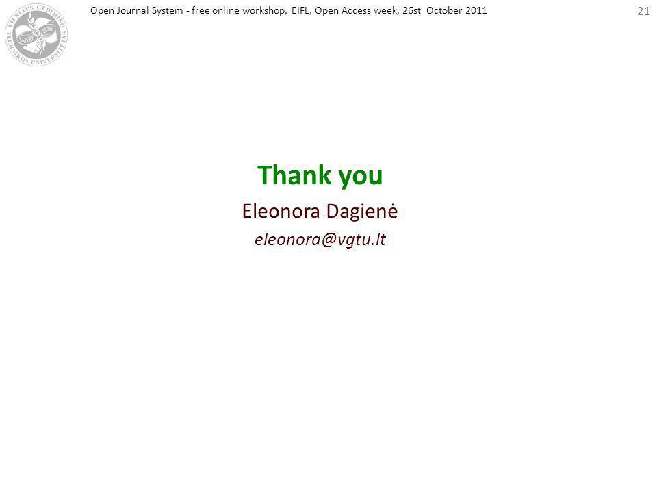 EIFL web-conference, 26st October 2011