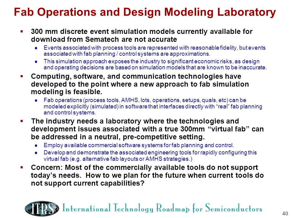 Fab Operations and Design Modeling Laboratory