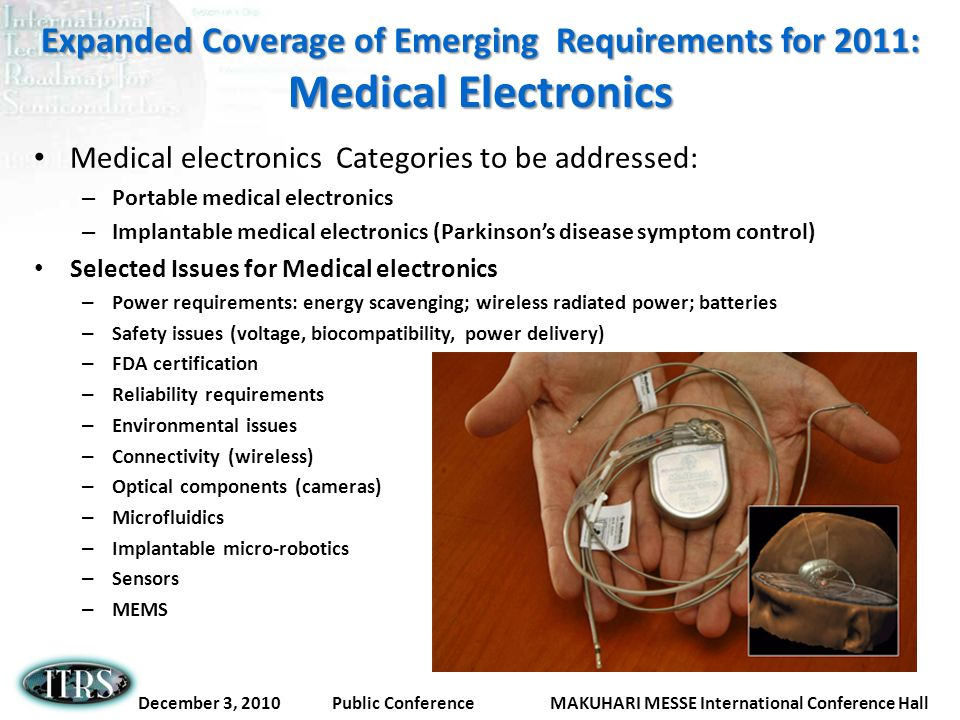 Expanded Coverage of Emerging Requirements for 2011: Medical Electronics