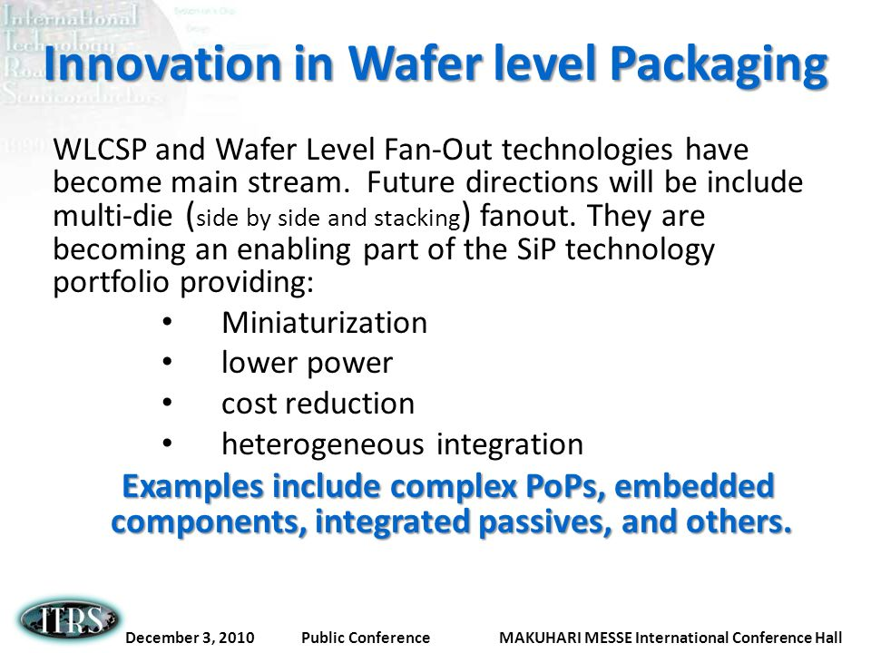Innovation in Wafer level Packaging