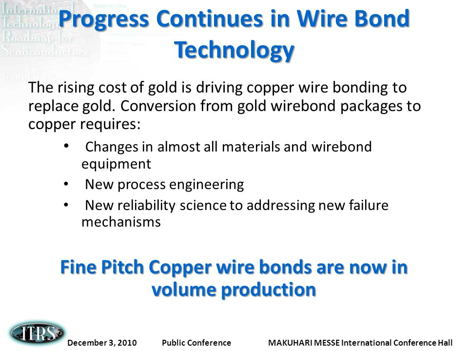Progress Continues in Wire Bond Technology