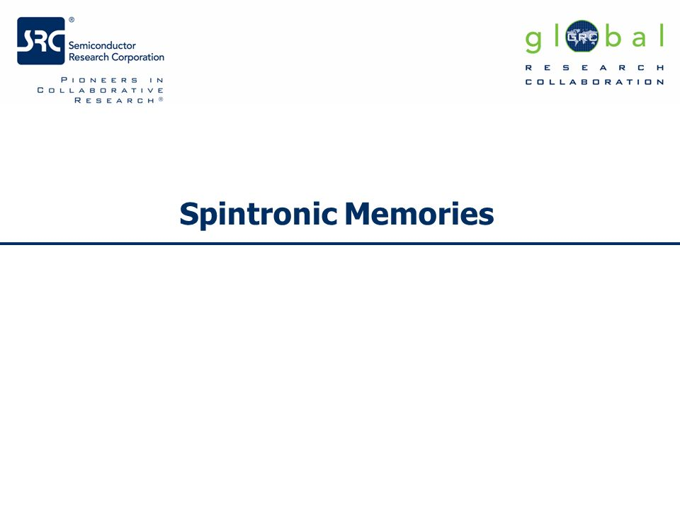 Spintronic Memories