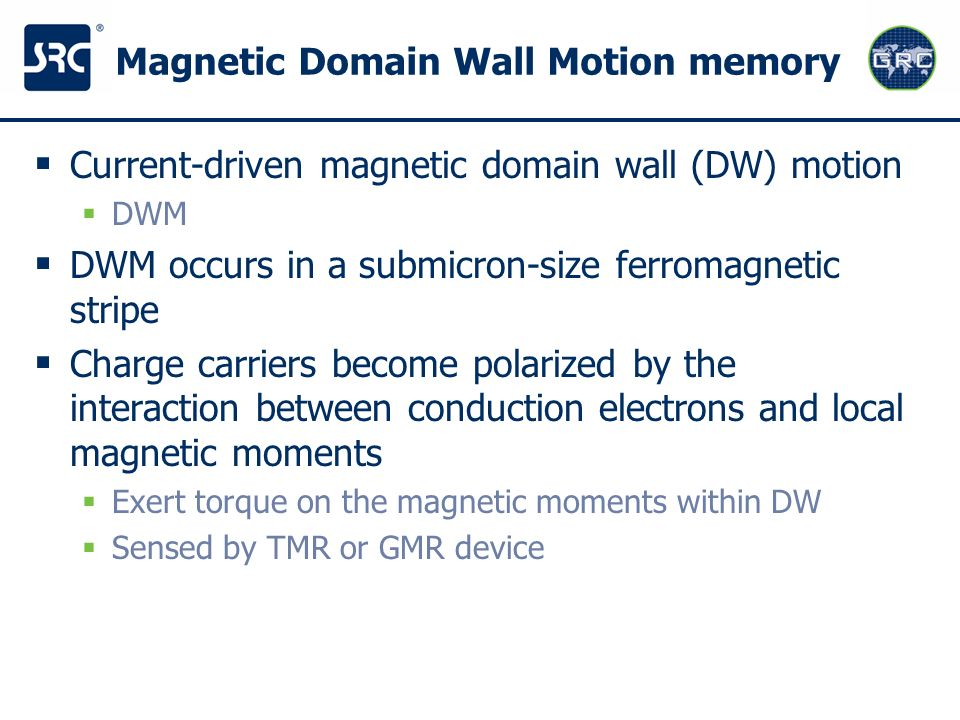 Magnetic Domain Wall Motion memory