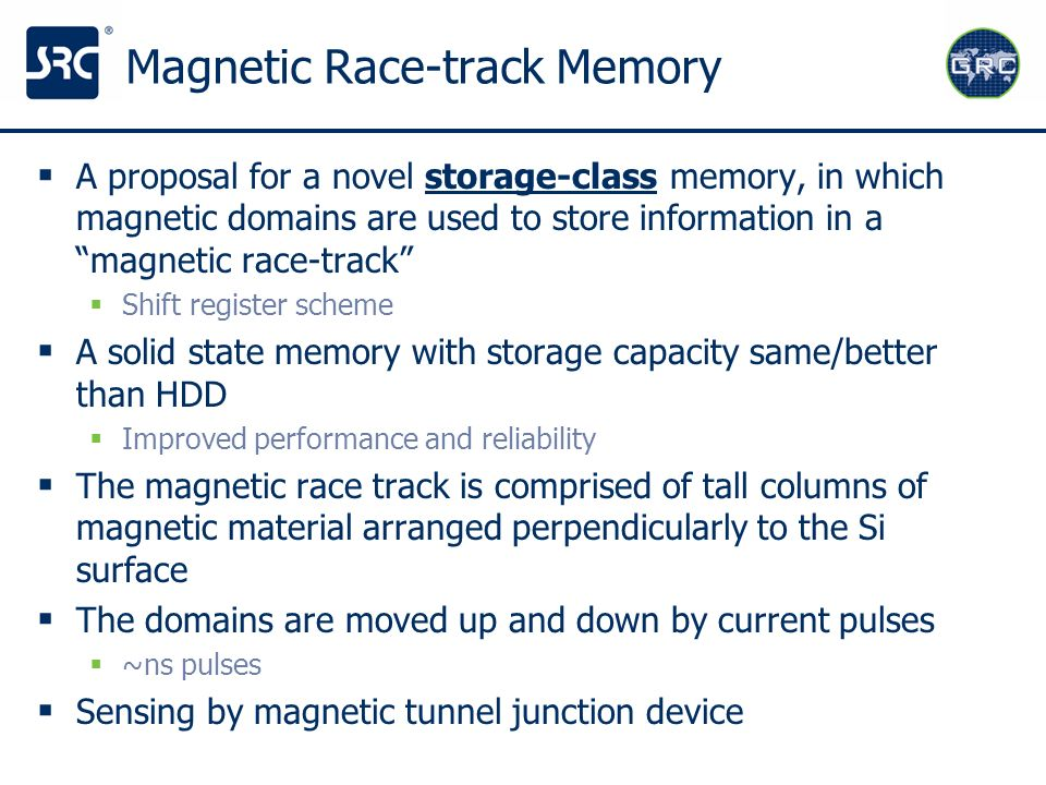 Magnetic Race-track Memory