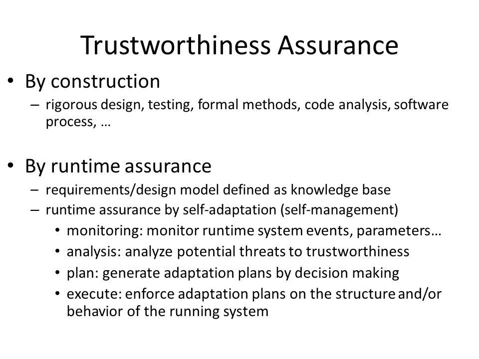 Trustworthiness Assurance