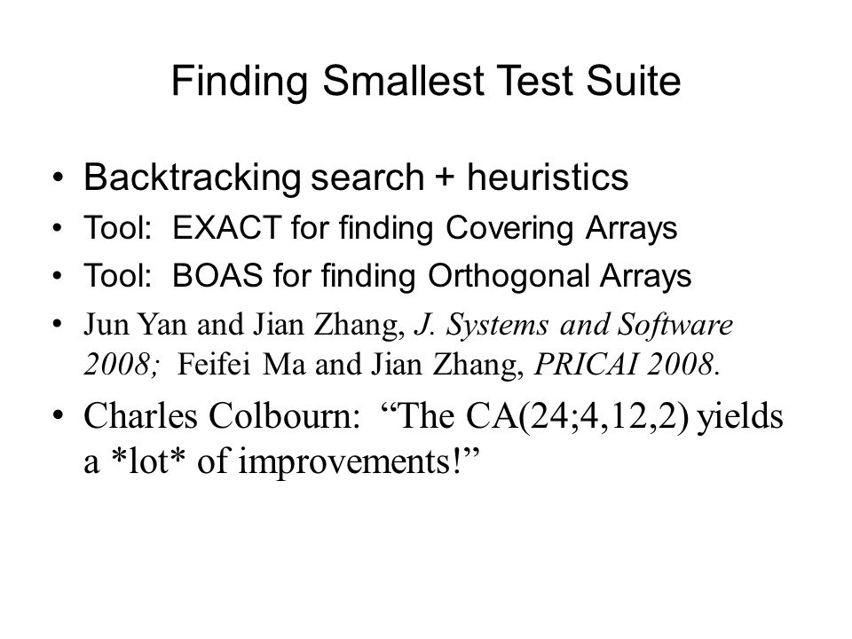 Finding Smallest Test Suite