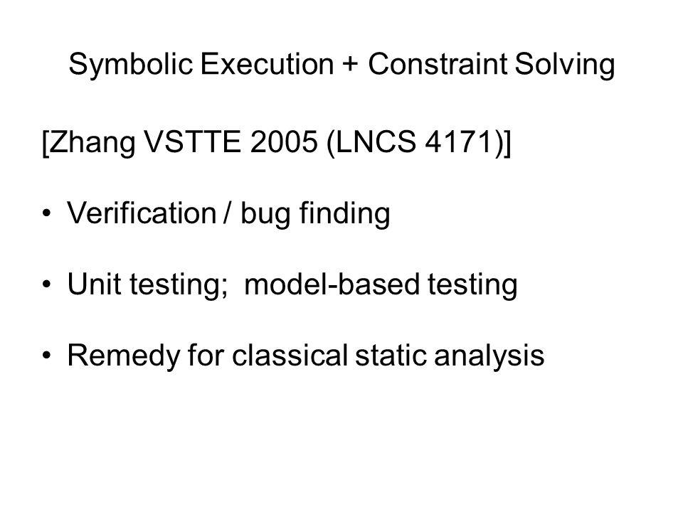 Symbolic Execution + Constraint Solving