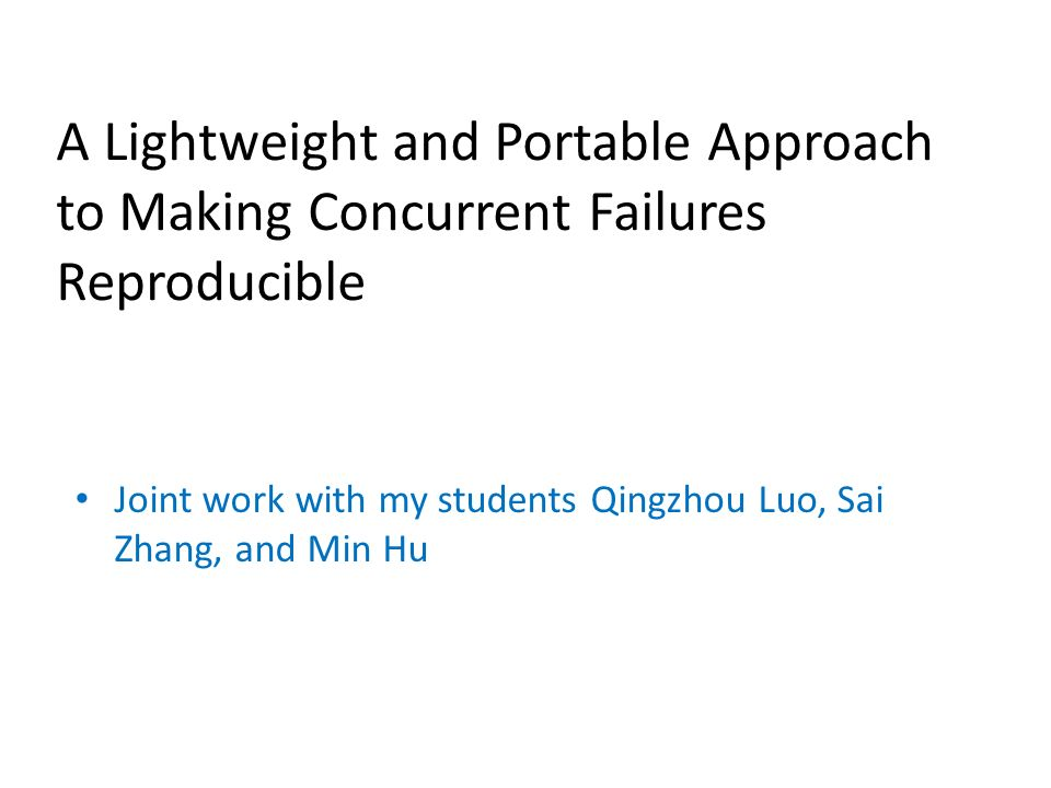A Lightweight and Portable Approach to Making Concurrent Failures Reproducible