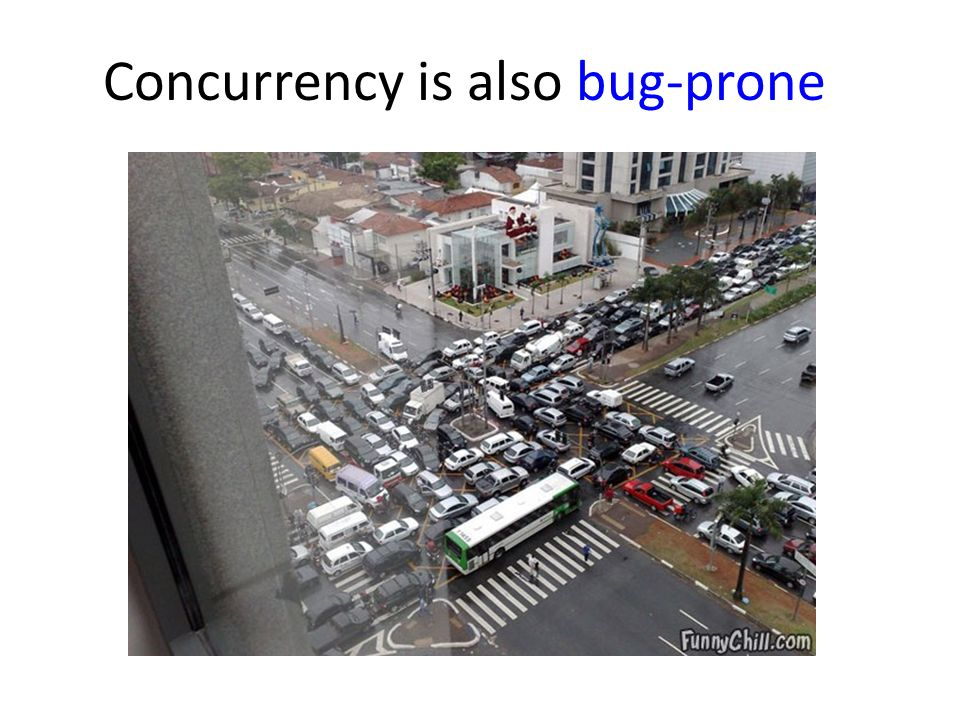 Concurrency is also bug-prone