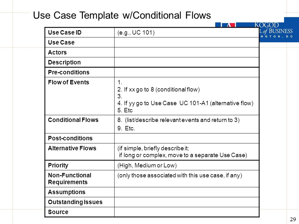 Gallery Of Simple Use Case Template. Business Analysis U0026 Data Design  ITEC 630 Fall Ppt Download