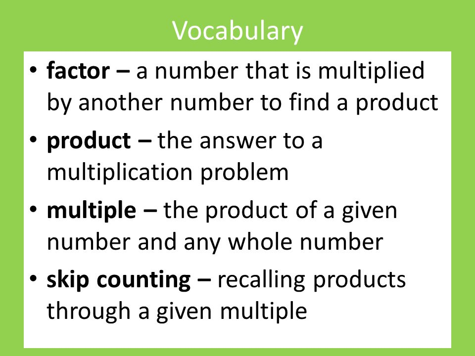 how to find a product of a number