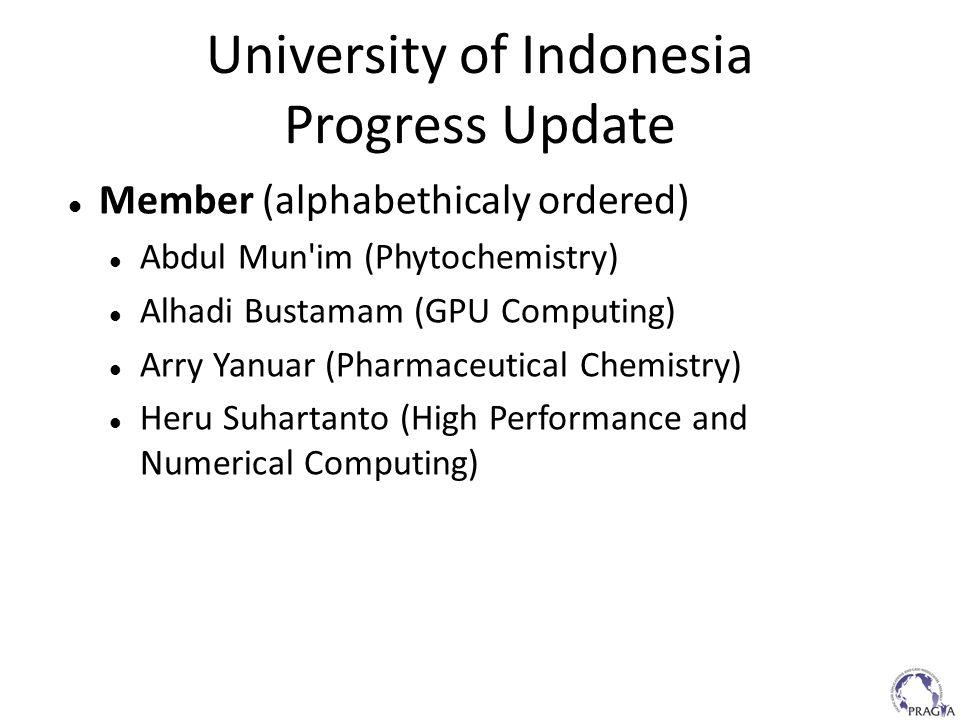 University of Indonesia Progress Update