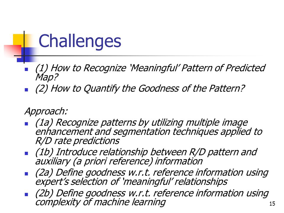 Challenges (1) How to Recognize 'Meaningful' Pattern of Predicted Map