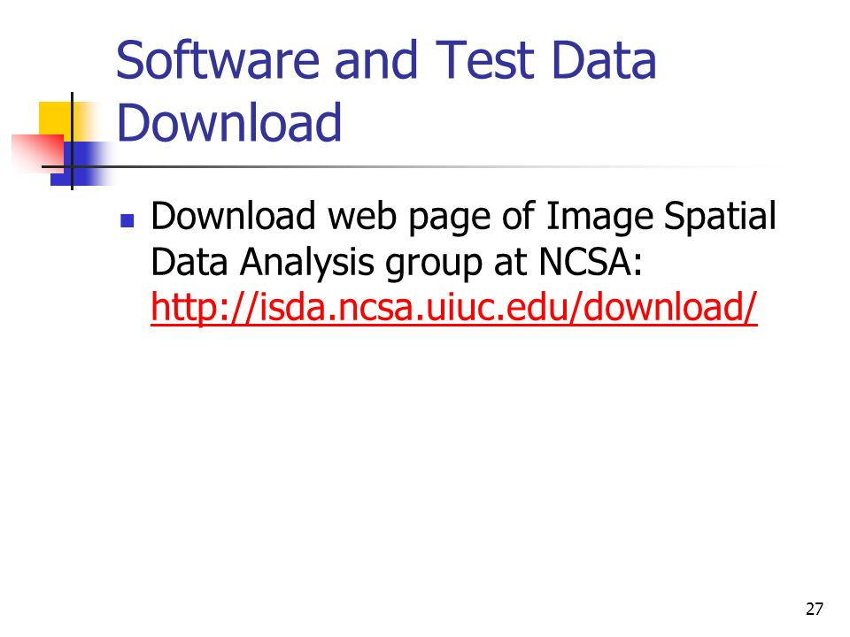 Software and Test Data Download