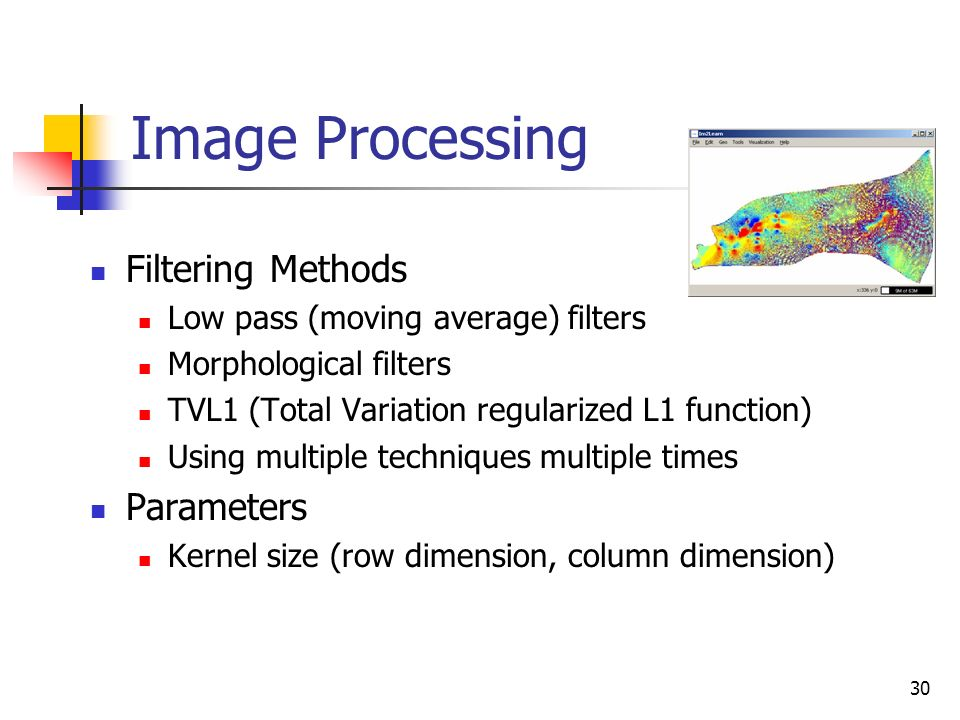 Image Processing Filtering Methods Parameters