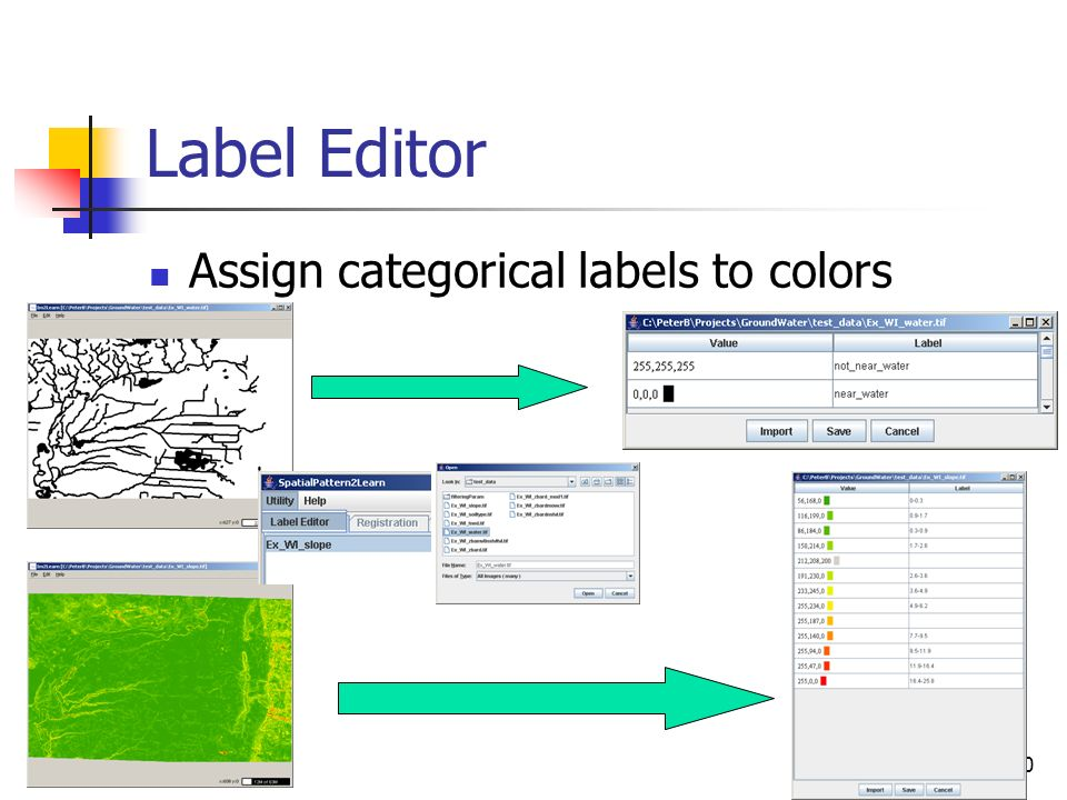 Label Editor Assign categorical labels to colors