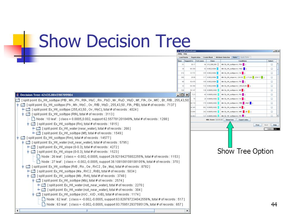 Show Decision Tree Show Tree Option