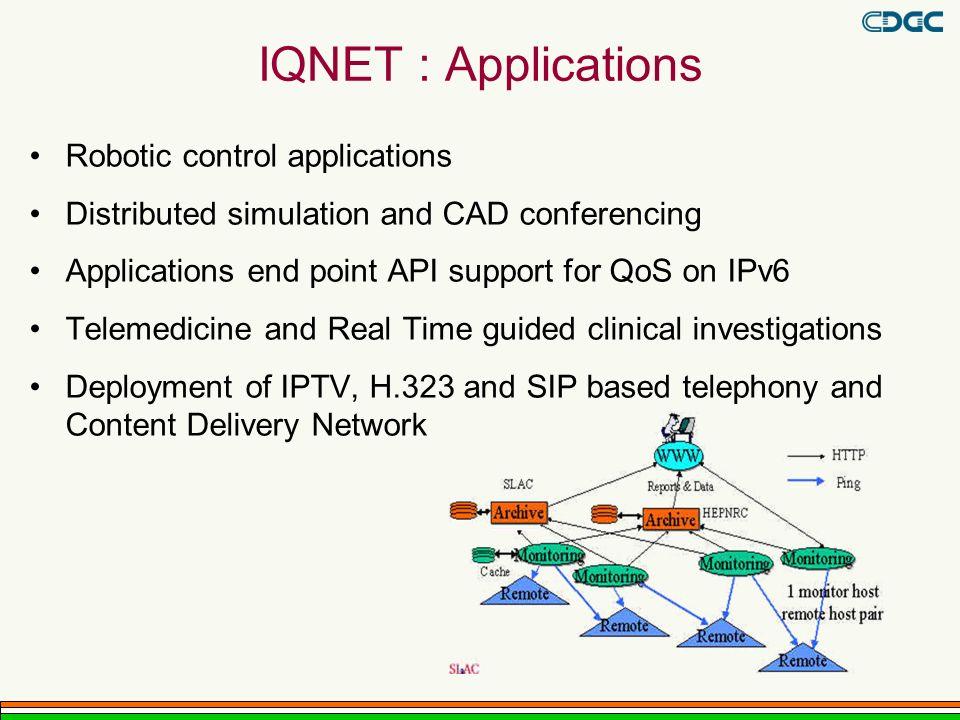 IQNET : Applications Robotic control applications