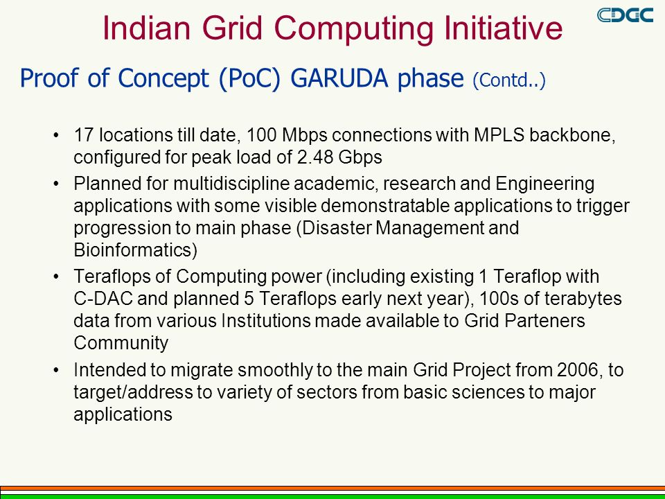 Indian Grid Computing Initiative