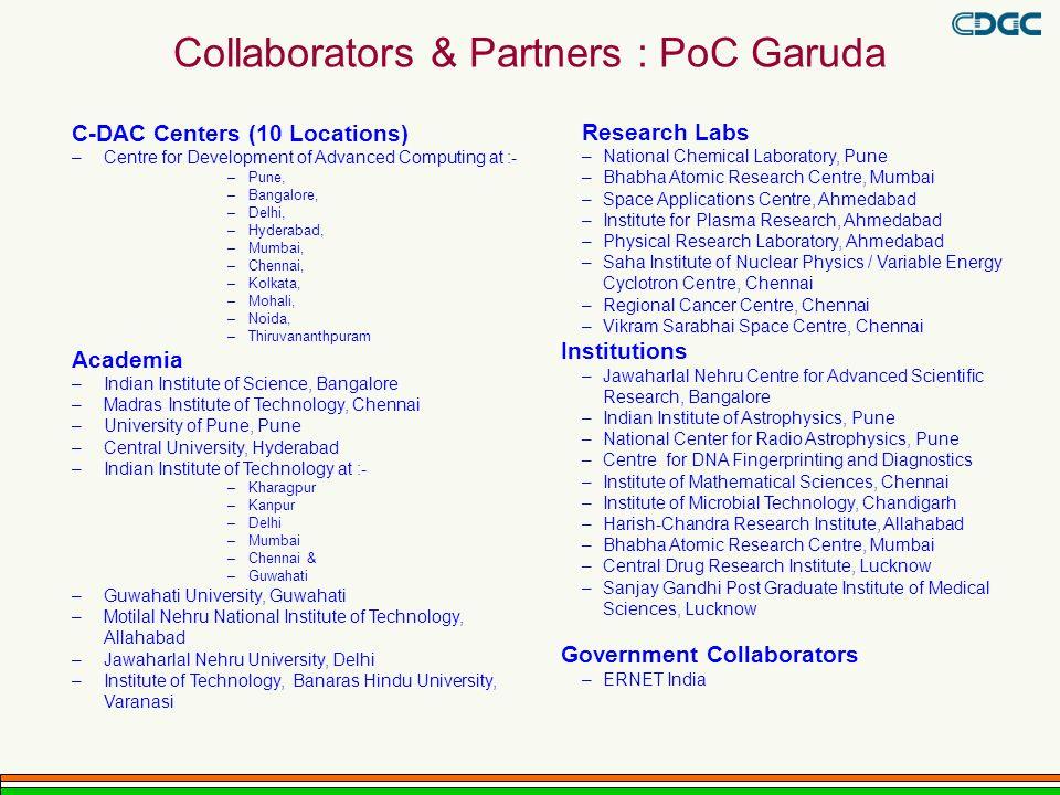 Collaborators & Partners : PoC Garuda