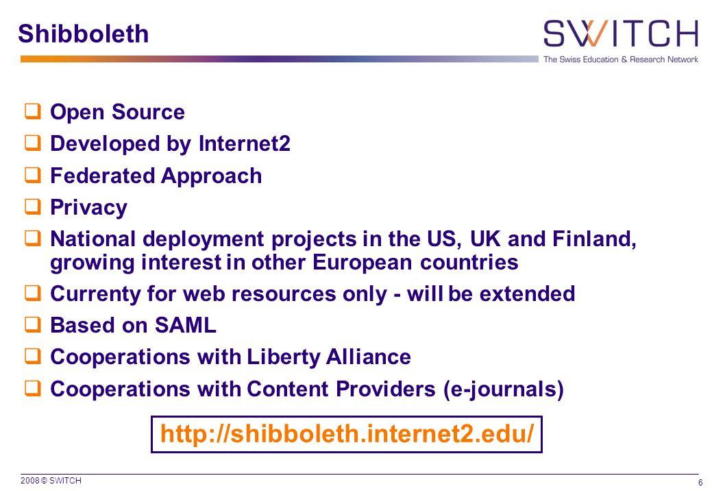 Shibboleth http://shibboleth.internet2.edu/ Open Source
