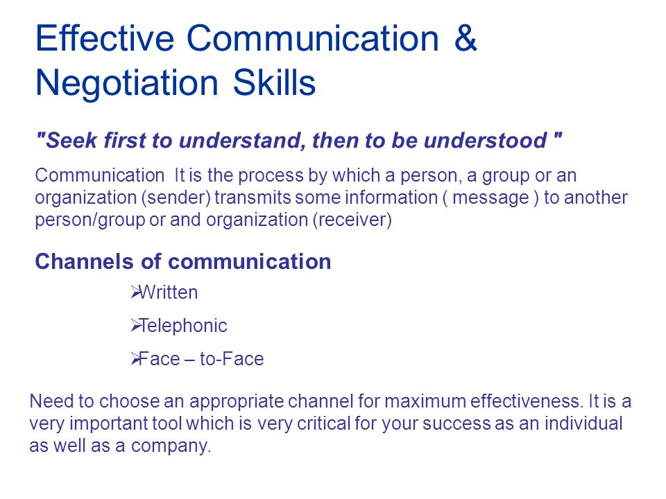 effective communication in negotiation Participants develop negotiation skills by  prior to taking effective collective bargaining skills and  collective bargaining skills and strategies.