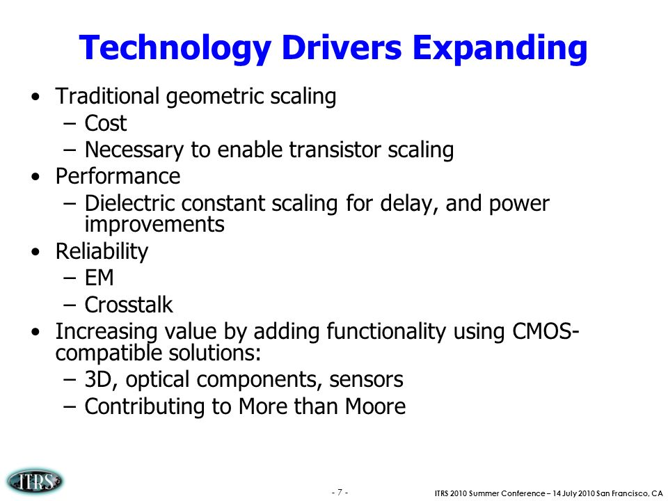 Technology Drivers Expanding