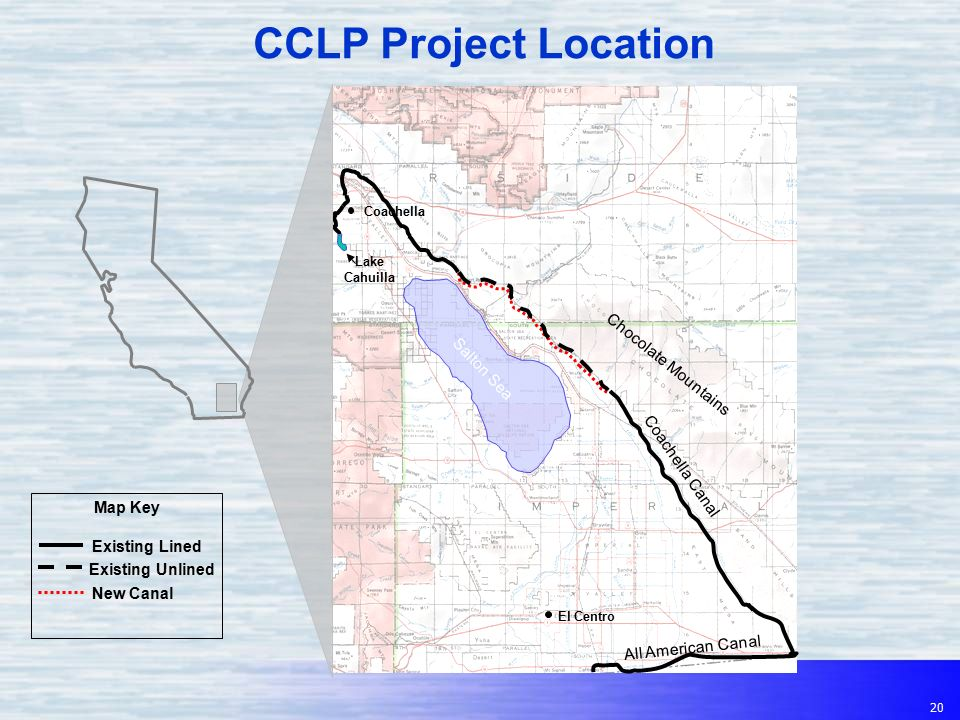 Colorado River Canal Lining Projects Coachella AllAmerican - Salton sea on us map