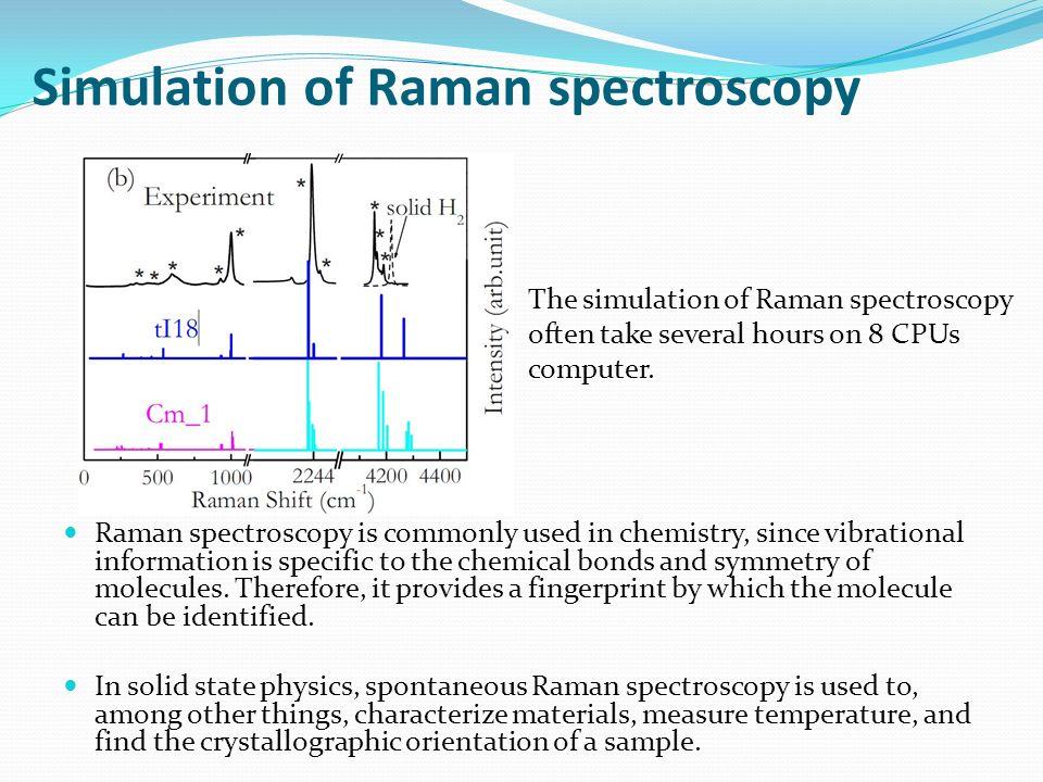 Simulation of Raman spectroscopy