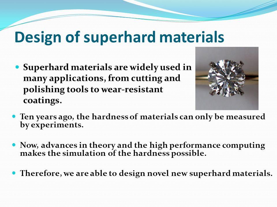 Design of superhard materials