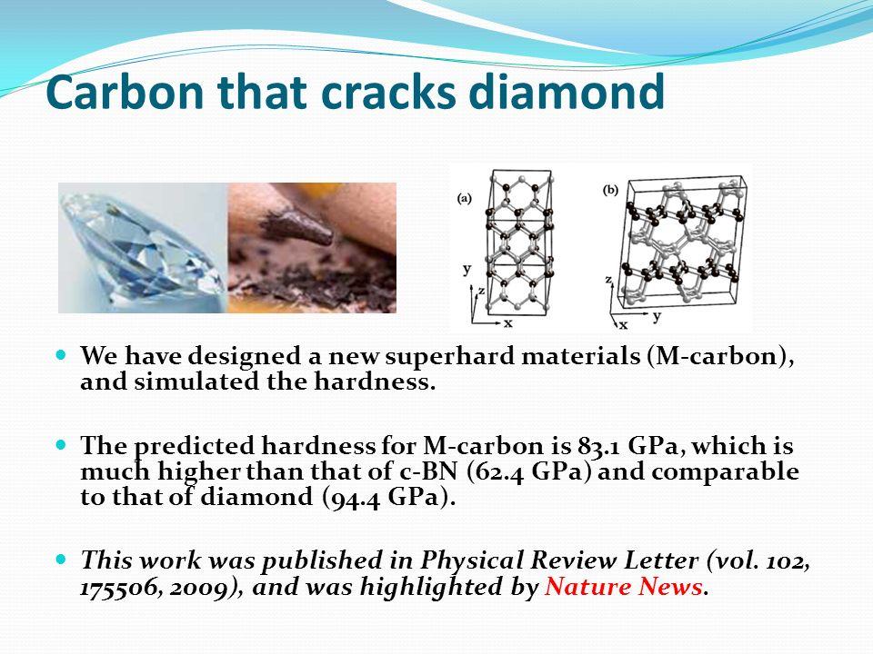 Carbon that cracks diamond
