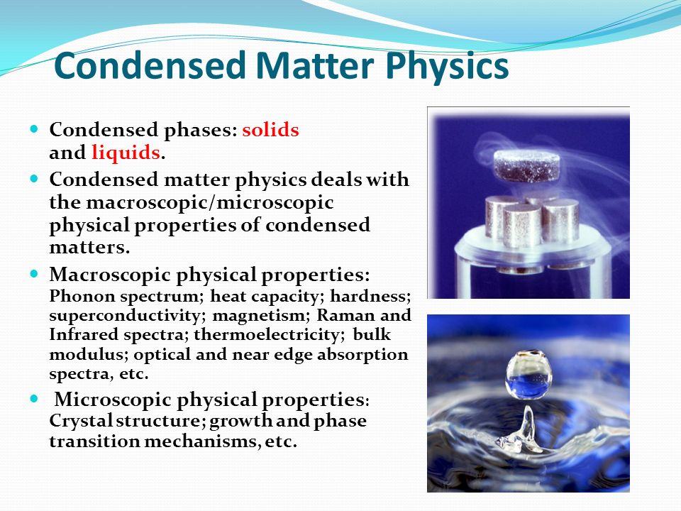Condensed Matter Physics
